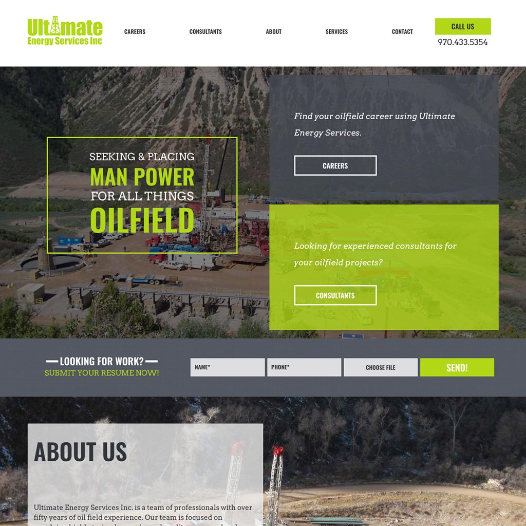 Ultimate Energy | Web design and development by Melinda McCaw Media